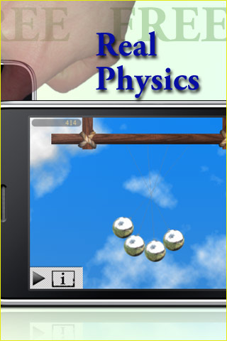 Screenshot Newton's Balls Lite: Kinetic Physics Newton's Cradle Simulator